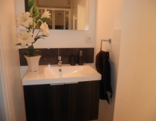 En suite bathroom to twin bedroom (balcony off en suite)